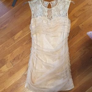 Nordstrom lace and ruched dress